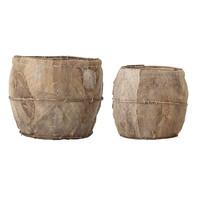 Manden bruine palmbladeren, set van 2