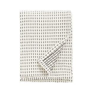 nordal Keukenhanddoek gewafeld gebroken wit en zwart set van 2