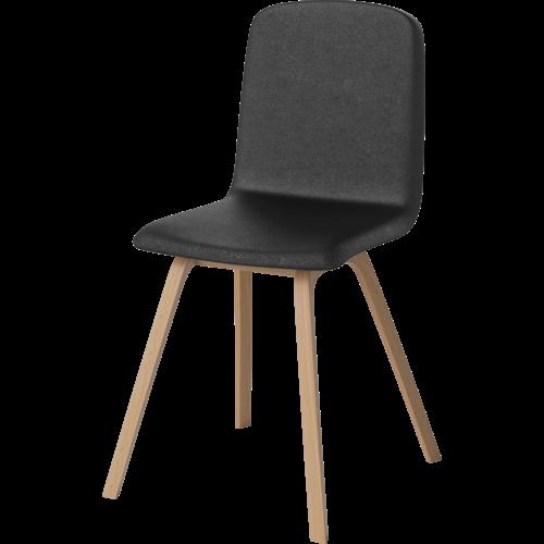 Bolia Palm chair leg oiled oak seat quattro leather black TOONZAALMODEL