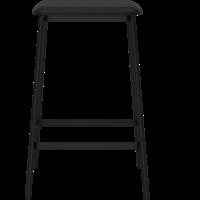 Facet barstoel -63 cm-leder zwart-TOONZAALMODEL