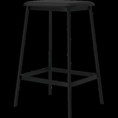 Bolia Facet barstoel -63 cm-leder zwart-TOONZAALMODEL