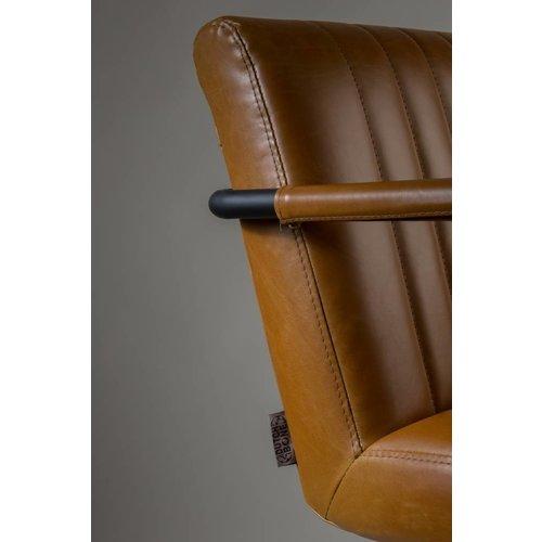 Dutchbone Stitched armstoel Cognac - TOONZAALMODEL