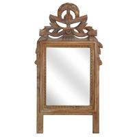 Handgesneden teakhouten spiegel TOONZAALMODEL