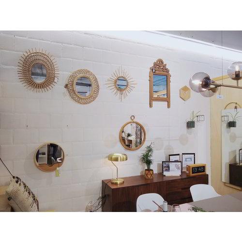 HK Living Handgesneden teakhouten spiegel TOONZAALMODEL