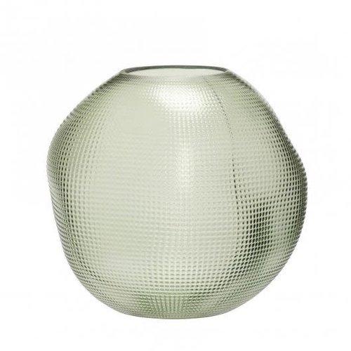 Hübsch Vaas groen glas