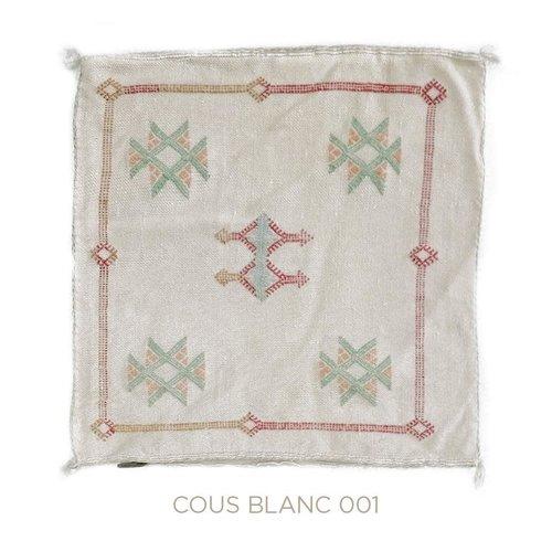 Chabi chic Kussen wit cactuszijde 50 x 50