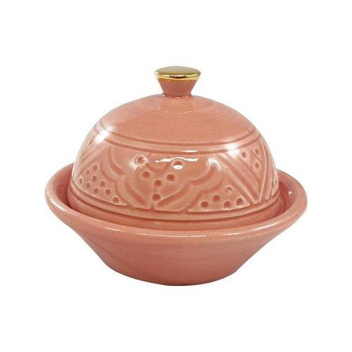 Chabi chic Botervlootje roze keramiek en goud