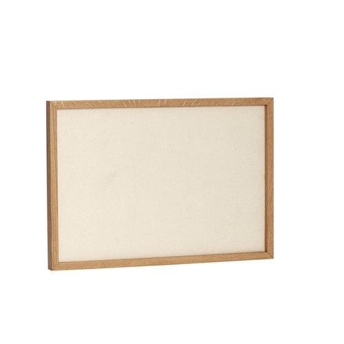 Hübsch Prikbord beige/natuur canvas/eik
