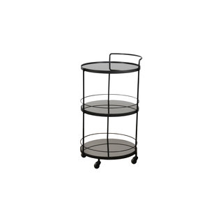 Ethnicraft Lucy trolley charcoal