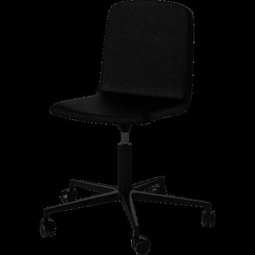 Bolia Palm bureaustoel leder zwart onderstel