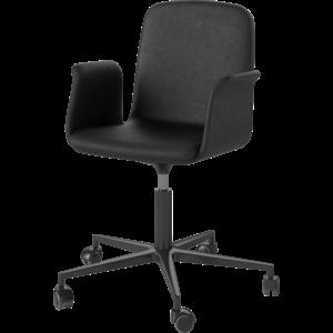 Bolia Palm bureaustoel met armleuningen leder zwart onderstel