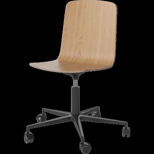 Bolia Palm bureaustoel fineer zwart onderstel
