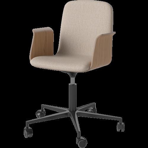 Bolia Palm bureaustoel met armleuningen london stof zwart onderstel