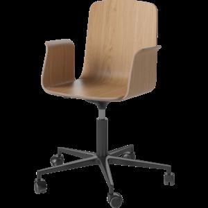 Bolia Palm bureaustoel met armleuningen fineer zwart onderstel
