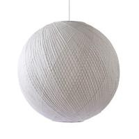Hanglamp bol wit bamboe/papier