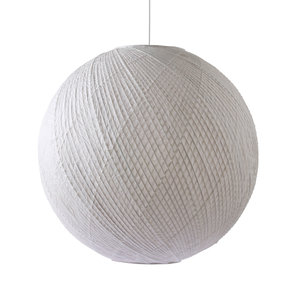 HK Living Hanglamp bol wit bamboe/papier