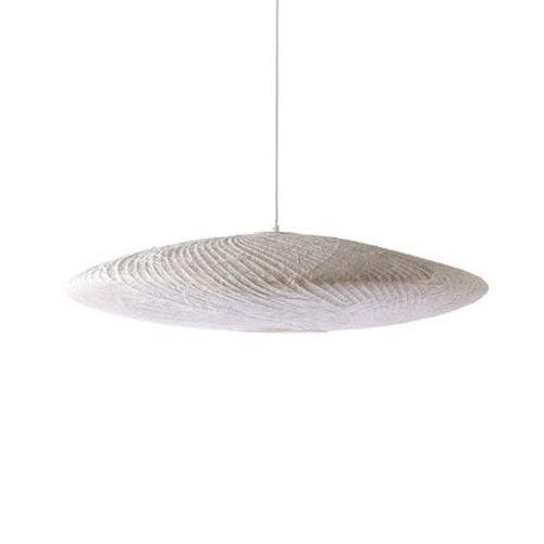 HK Living Hanglamp ufo wit bamboe/papier