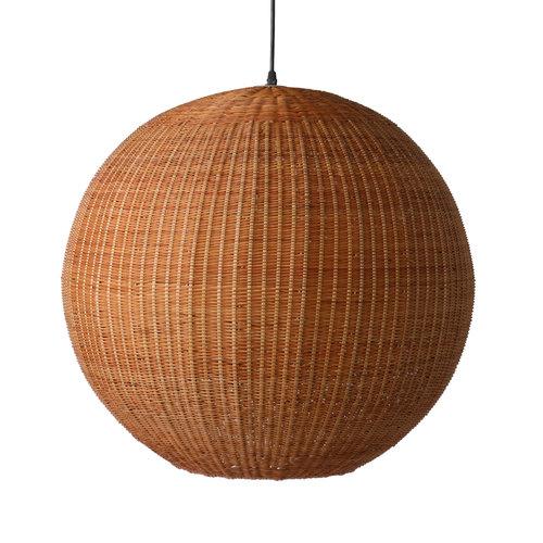 HK Living Hanglamp bol bruin bamboe