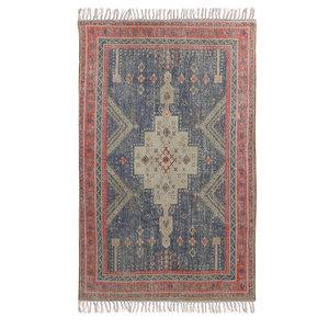 HK Living Bedrukt tapijt rood/blauw