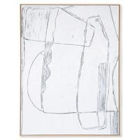 Kader met kunst: white brutalism (120x160)