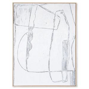 HK Living Kader met kunst: white brutalism (120x160)
