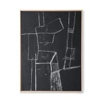 Kader met kunst: black brutalism (60x80)