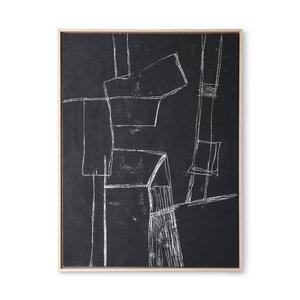 HK Living Kader met kunst: black brutalism (60x80)