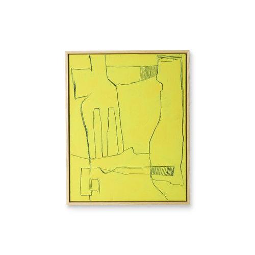 HK Living Kader met kunst: yellow brutalism (40x50)