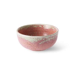 HK Living Home Chef Ceramics: kom rustiek roze