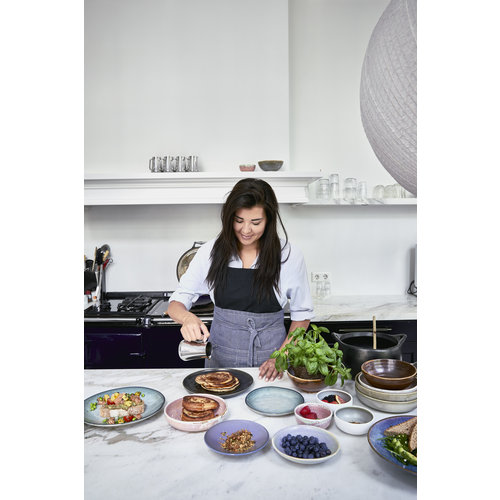 HK Living Home Chef Ceramics: diep bord rustiek roze