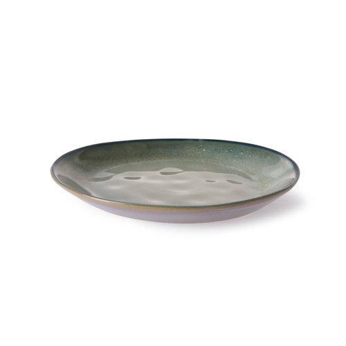 HK Living Home Chef Ceramics: dessertbord grijs/groen