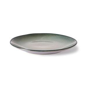 HK Living Home Chef Ceramics: eetbord grijs/groen
