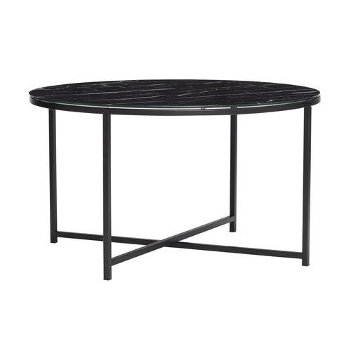 Hübsch Bijzettafel zwart marmer Ø  80 cm