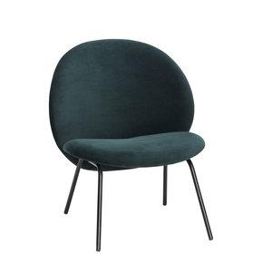 Hübsch Lounge stoel groen velours