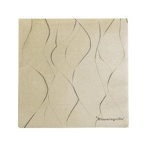 Bloomingville Servetten beige papier