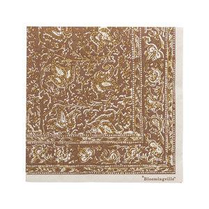 Bloomingville Servetten bruin papier