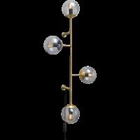 Orb wandlamp mat antiek messing