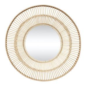 Hübsch Spiegel met houten frame naturel