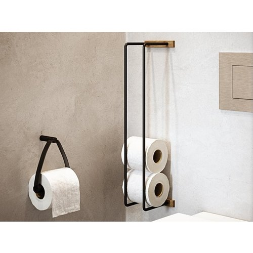 By Wirth Rack toiletpapierhouder eik natuur