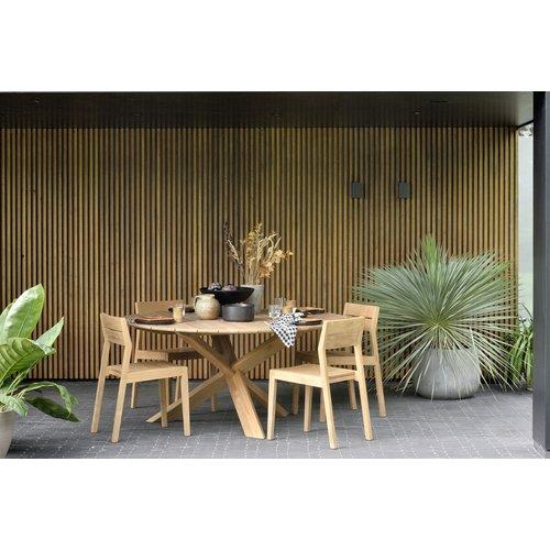 Ethnicraft Circle outdoor eettafel