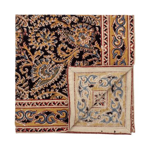 Bloomingville Hasina stoffen servetten meerkleurig katoen set van 4