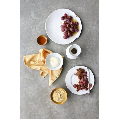 HK Living Bone China ontbijtbord wit