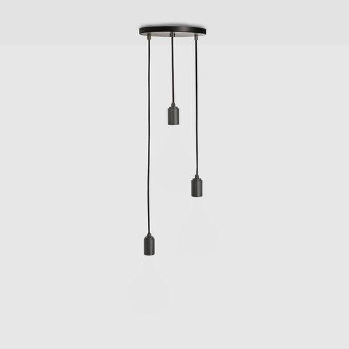 Tala Triple pendant zwarte plafondkap