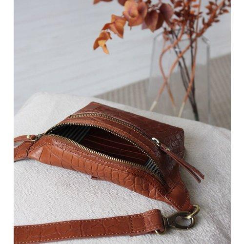 O My Bag Beck's bum bag Wild Oak Croco Soft Grain leder