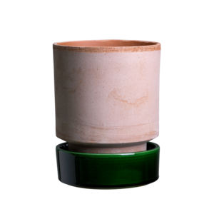 Bergs Potter The Hoff schotel voor bloempot geglazuurd smaragdgroen 8 cm