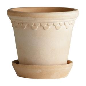 Bergs Potter Kopenhagen bloempot met schotel licht 30 cm