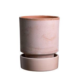 Bergs Potter The Hoff schotel voor bloempot geglazuurd quartz roze 14 cm