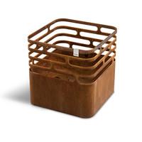 Cube vuurkorf cortenstaal