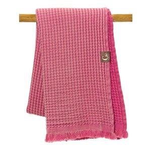 Gwery Passion pink honingraat strandlaken 180 x 100