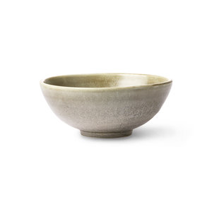 HK Living Home Chef Ceramics : saladeschaal rustiek groen/grijs